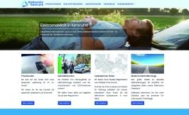 Online-Portal zur Elektromobilität Die Stadtwerke Karlsruhe bieten ein Portal zur Elektromobilität an, um sich über mögliche Lösungen und den effizienten Einsatz von E-Mobilität zu informieren.