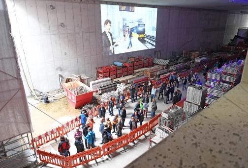 Ganztägige Öffnung des Stadtbahntunnels zwischen Europaplatz und Marktplatz Zwei Tage lang Haltestellen und Tunnelröhre erkunden